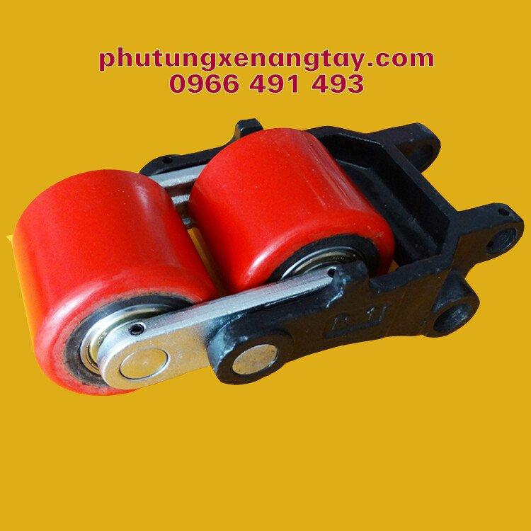 Bánh xe nâng tay PU 80x70mm, bánh đôi