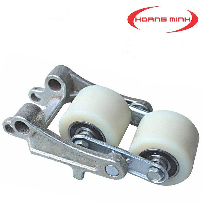 Bộ bánh xe nâng tay Nylon 80x70mm dùng cho môi trường thủy sản