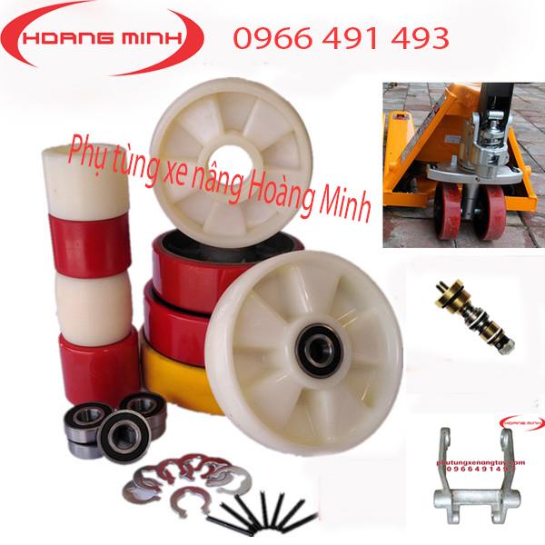 bánh xe nâng tay, bánh xe PU, bánh xe Nylon các loại