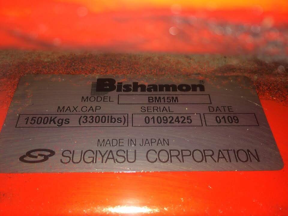 Nhãn xe nâng tay Bishamon BM15M