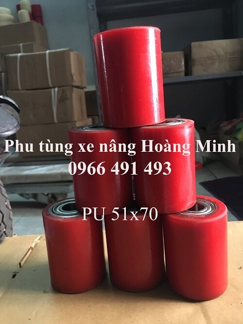 Phụ tùng xe nâng tay Hoàng Minh bánh xe 51x70