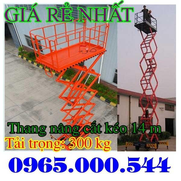 thang nâng cắt kéo 14m