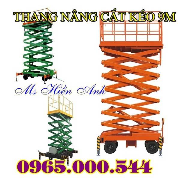 thang nâng cắt kéo 9 m