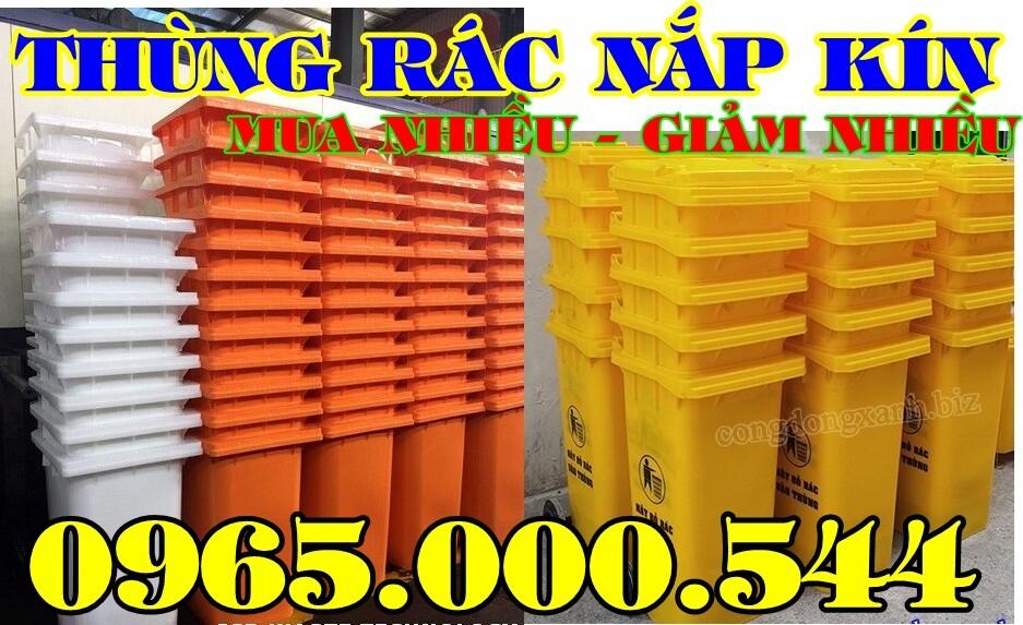 thung rac 120 lit nap kin