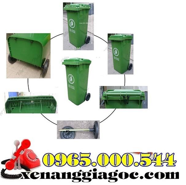 Thùng rác nhựa 100 lít HDPE