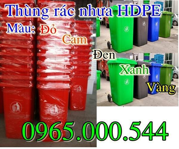 Thùng rác nhựa HDPE màu đen