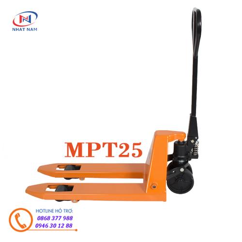 Hình ảnh xe nâng tay siêu nhỏ MPT25 kích thước càng 520x800mm