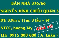 Bán Nhà Q.3 Gía Rẻ