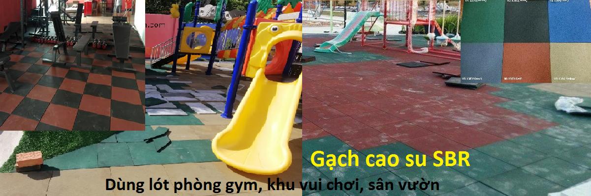 gạch cao su; gạch cao su sbr chuyên dùng lót phòng gym, khu vui chơi, công viên, hồ bơi, sân vườn