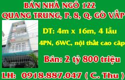 Bán Nhà Quang Trung Gò Vấp Gía Rẻ