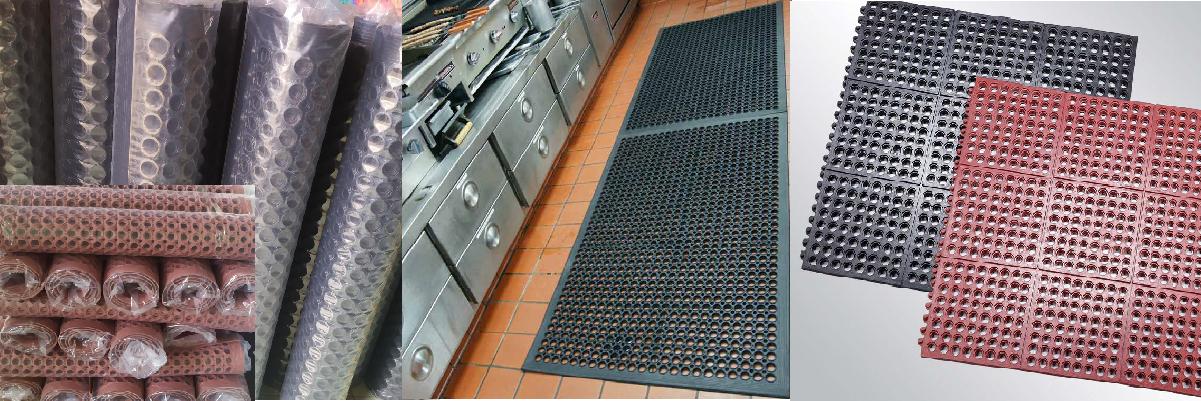thảm cao su; thảm cao su chống trượt; thảm chống trượt nhà bếp; thảm chống trượt nhà xưởng; chuyên dùng lót nhà bếp, nhà xưởng, lót cho tàu biển, khu vực ngập nước, ngập dầu