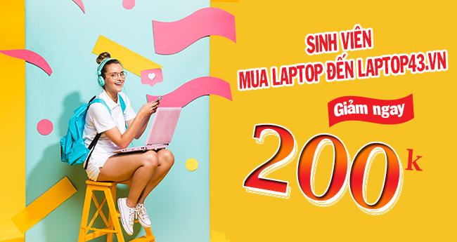 Ưu đãi cho sinh viên khi mua laptop tại Laptop43.vn Đà Nẵng