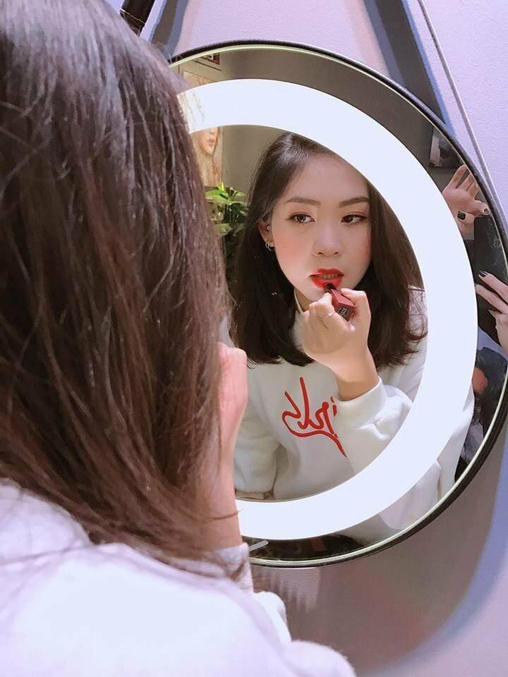 Gương makeup đèn led dây da Citybuilding CBJ 011K