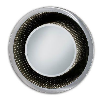 Gương led vô cực khung inox đèn led hình tròn Citybuilding CBJ V1