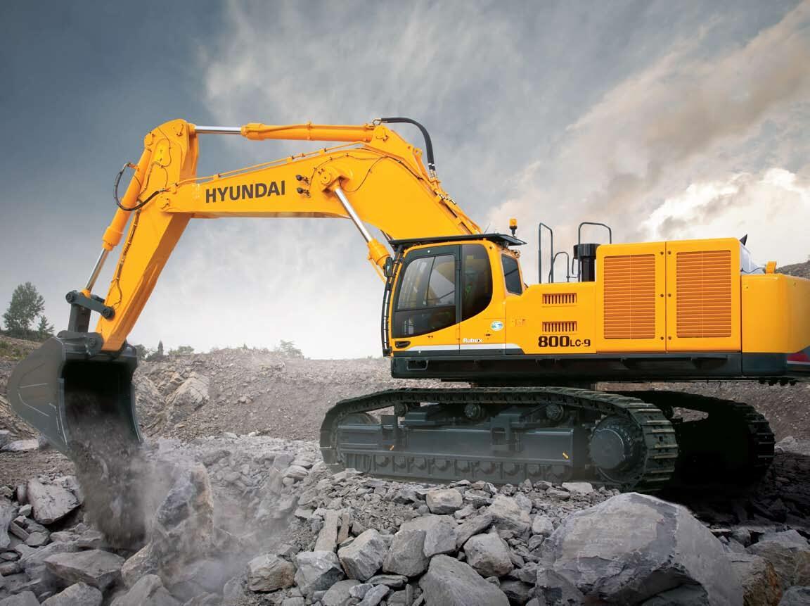 Máy đào bánh xích Hyundai R800LC-9S
