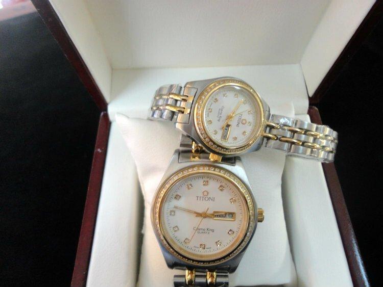 Đồng hồ cặp đôi Titoni Cosmo king 0890-sg7a
