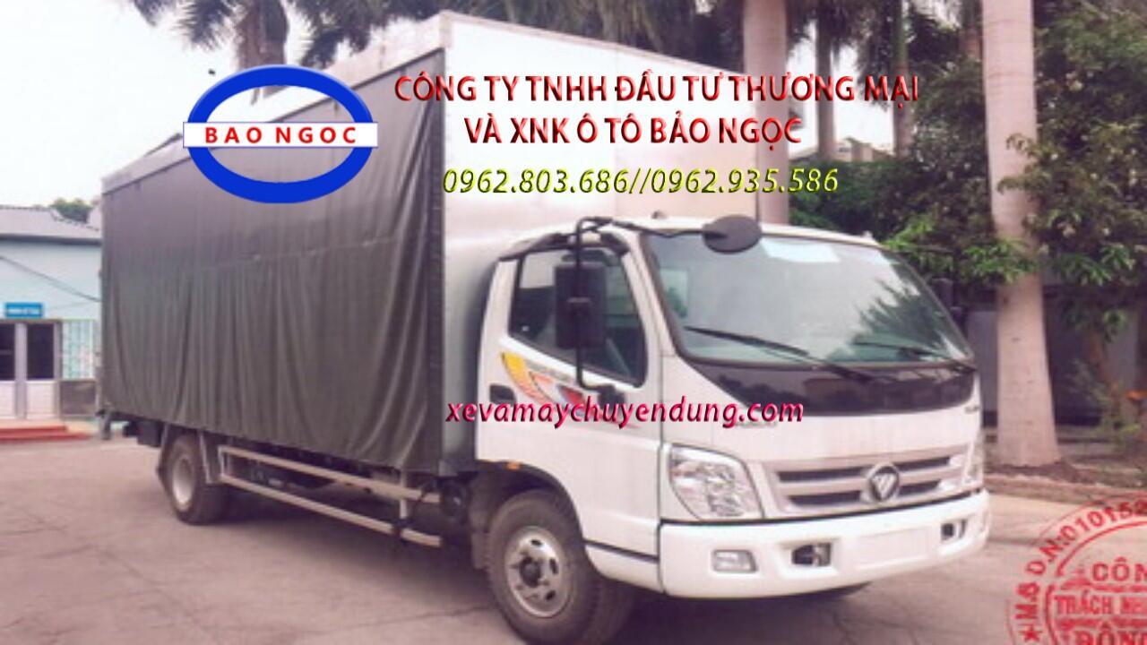 Xe tải thaco ollin 700B chở xe máy