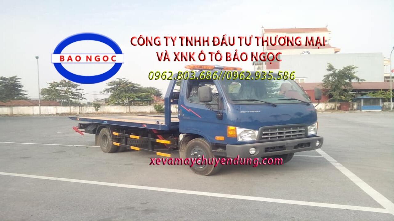 Xe cứu hộ hyundai hd700 sàn trượt