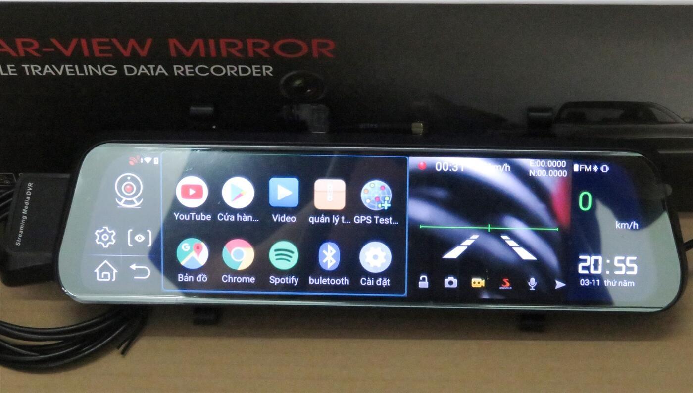 Camera hành trình cao cấp Autocam10MI. Màn hình cảm ứng, Android, Internet SIM 4G,WiFi,định vị GPS..