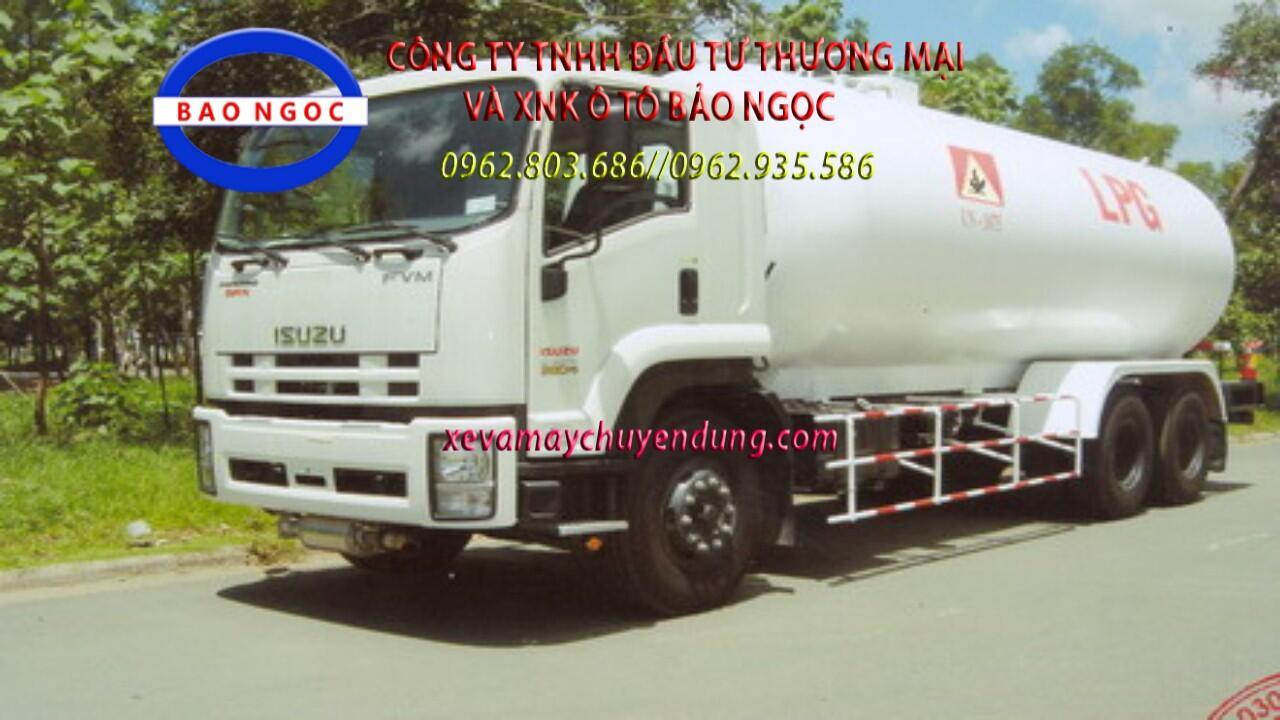 Xe bồn ISUZU FVM34T chở 21 lít khí hóa lỏng LPG