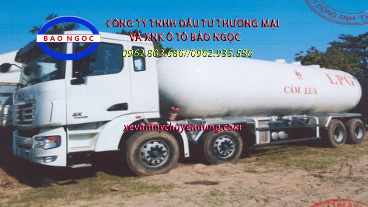 Xe bồn chở 27 lít khí hóa lỏng LPG