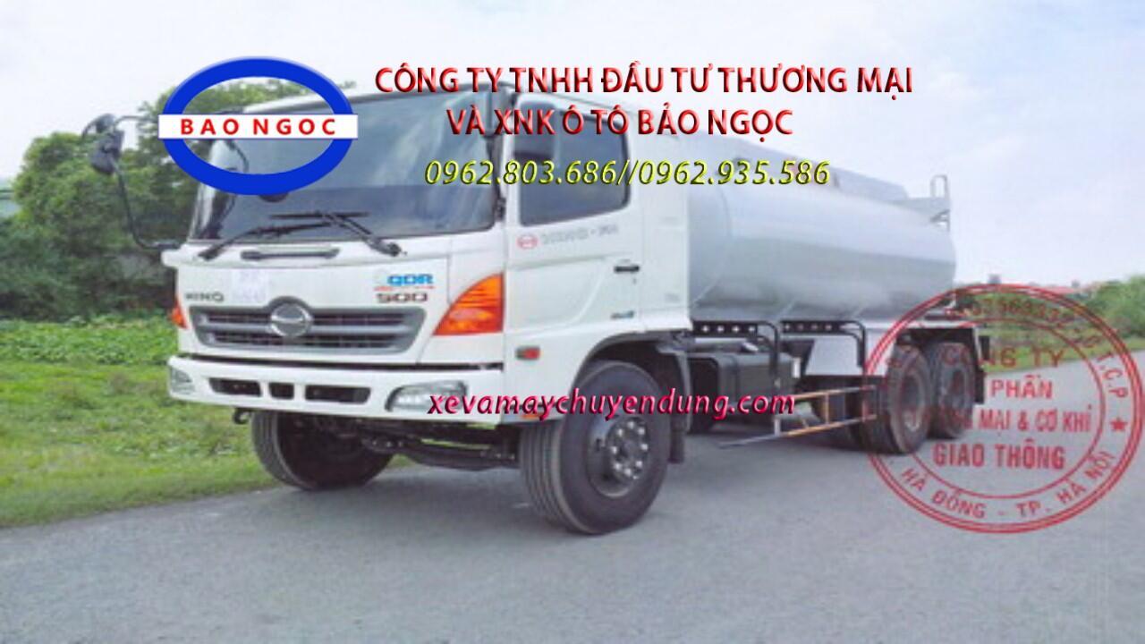 Xe bồn HINO FM chở 10 lít axít sulfuric