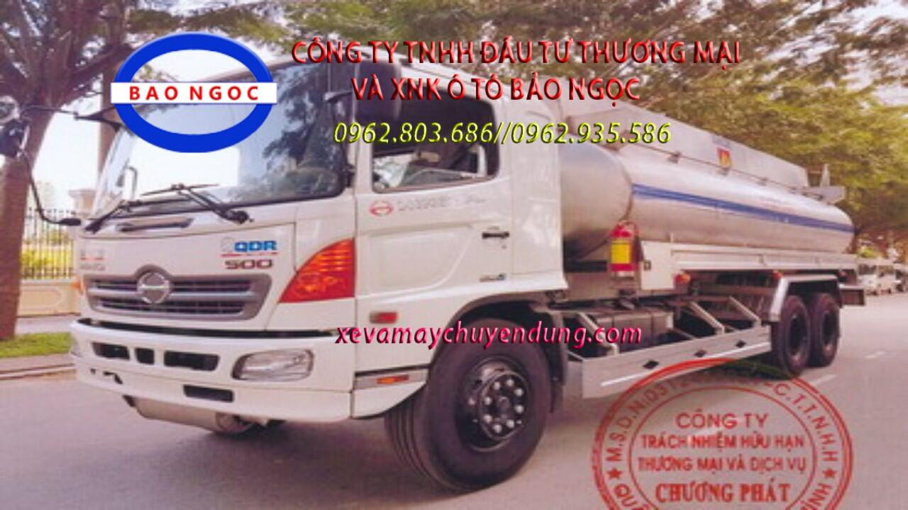 Xe bồn hino FL chở 18 khối cồn - Ethanol -C2H5OH