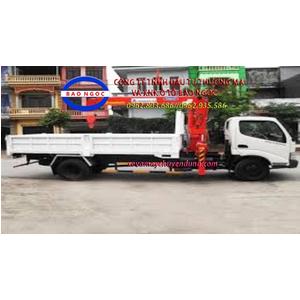 Xe tải hino FC gắn cẩu kanglim 3 tấn