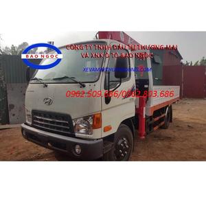 Xe tải hyundai HD700 Đồng Vàng gắn cẩu unic URV343