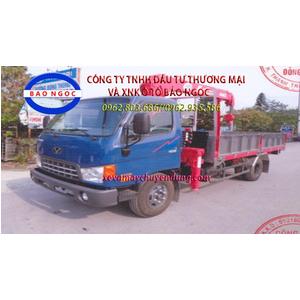 Xe tải hyundai HD99 gắn cẩu unic 3 tấn 4 đoạn