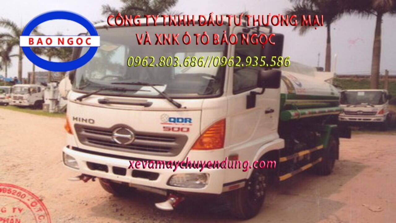 Xe téc nước 6 khối HINO FC phun nước tưới cây rửa đường