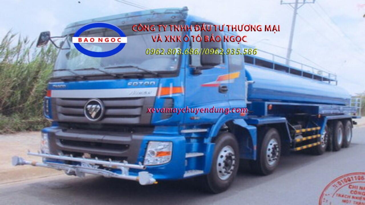 Xe téc nước 19 khối tưới cây rửa đường thaco auman 5 chân