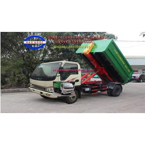 Xe chở rác thùng rời hooklift 9 khối jac