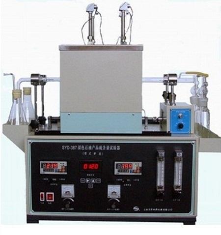 Máy xác định hàm lượng lưu huỳnh trong xăng dầu bằng phương pháp lò nung Changji SYD387