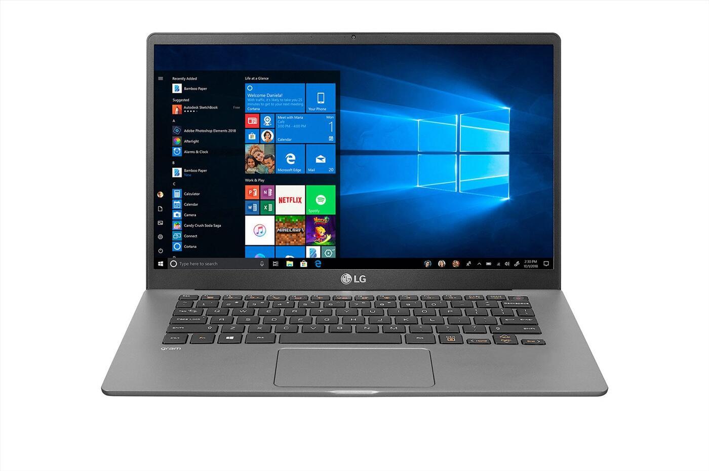 Laptop LG gram 14Z90N-V.AR52A5 Xám trắng (Cpu i5 - 1035G7, Ram 8GD4 , 256 G SSD M.2, 14 inch FHD