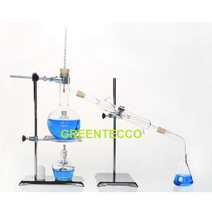 1000 ml - Bộ chưng cất chiết xuất tinh dầu bằng hơi nước mini 1000 ml - chất liệu thủy tinh