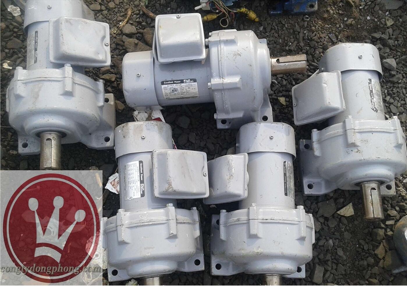 Motor giảm tốc Nhật cũ Fuji 100w 1/250