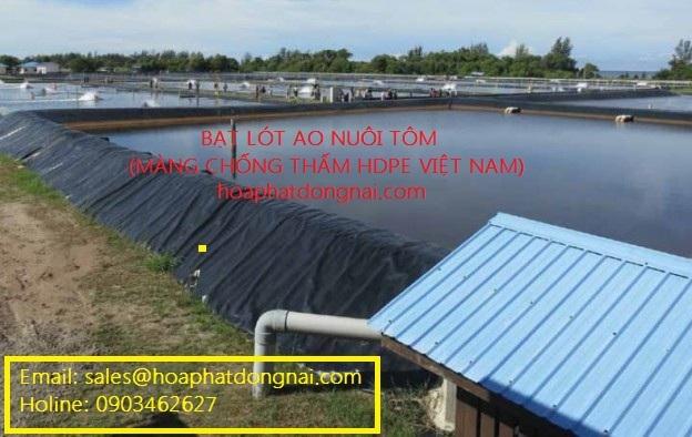 Bạt HDPE lót hồ nuôi thủy sản