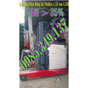 Xe nâng điện cũ NICHIYU 1.5 tấn cao 4.5 mét chui container