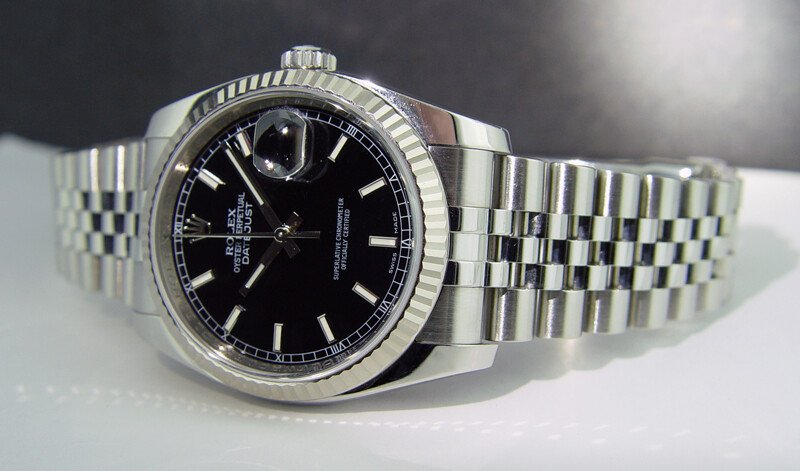Rolex Oyster Perpetual Datejust Black Dial Stainless Steel 36mm 116234