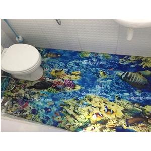 Mẫu gạch 3d ốp nhà tắm san hô