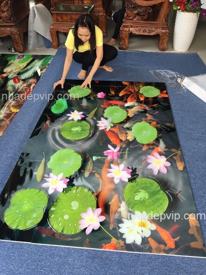 Mẫu gạch 3D Hồ Cá_Thi Công quận 5