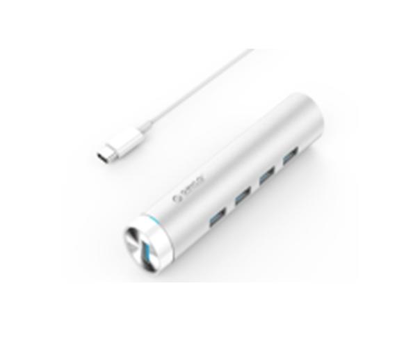 Bộ chia USB HUB 4 cổng USB 3.0 Type C/ Thiết kế Hình tròn sang trọng