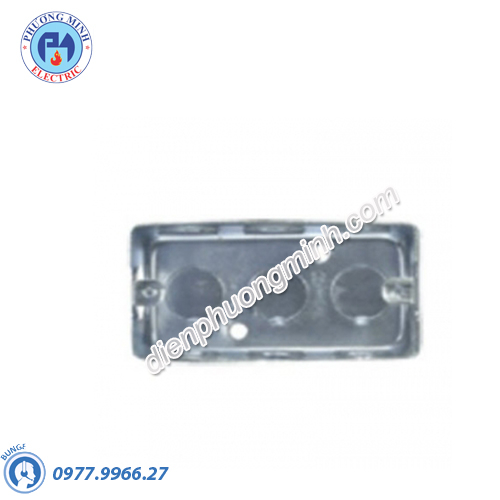 Đế âm đơn kim loại 101x51x51mm - Model 157_1