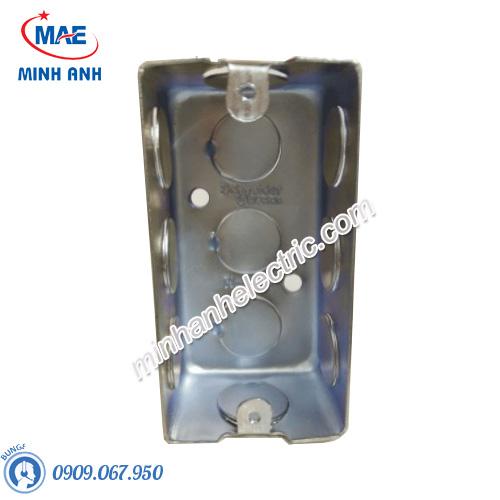 Đế âm đơn kim loại, 101 x 51 x 51mm - Model 157_1