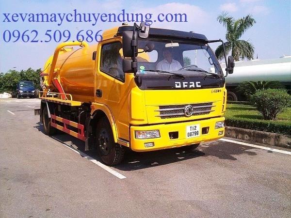 XE HÚT CHẤT THẢI DONGFENG 6m3