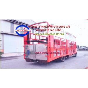 Xe tải HINO FC thùng 2 tầng dài 7,3m chở ô tô