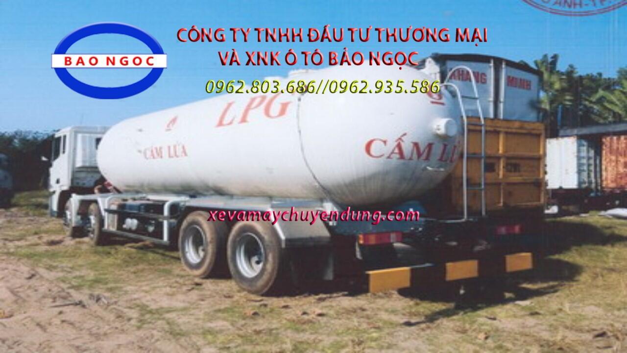 Xe xi téc chở 27 lít khí hóa lỏng LPG