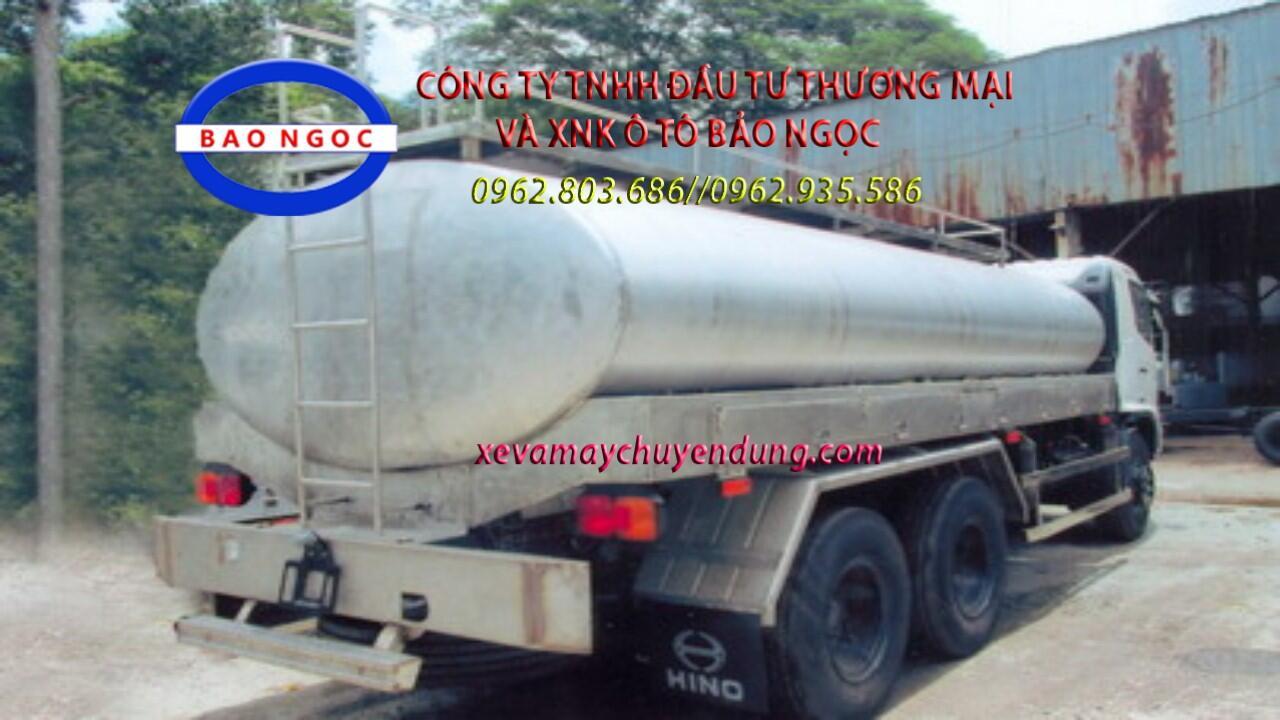 Xe téc chở 18 m3 cồn-ethano HINO FL