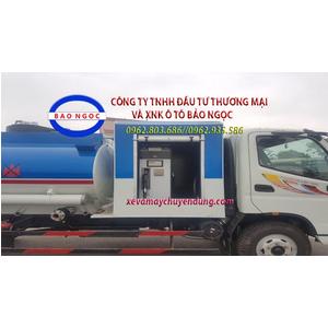 Xe téc chở xăng dầu 5 khối thaco ollin 700C có cột bơm cấp lẻ